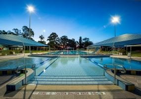 Image pf public aquatic centre pool