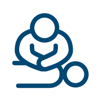 CPR blue image icon