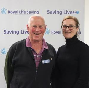 Re-elected board member David Cummins with new board member Justine Leavy