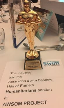 Image of the award received by the AWSOM Project