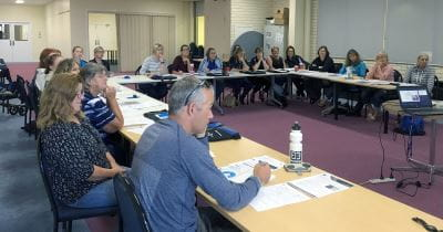 Trainers attending a PD session in Bunbury