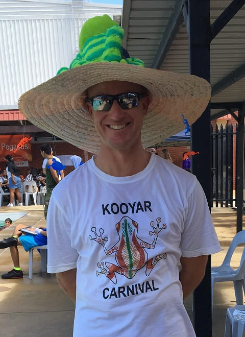 teacher from Dianella Secondary College wearing Kooyar Carnival t-shirt