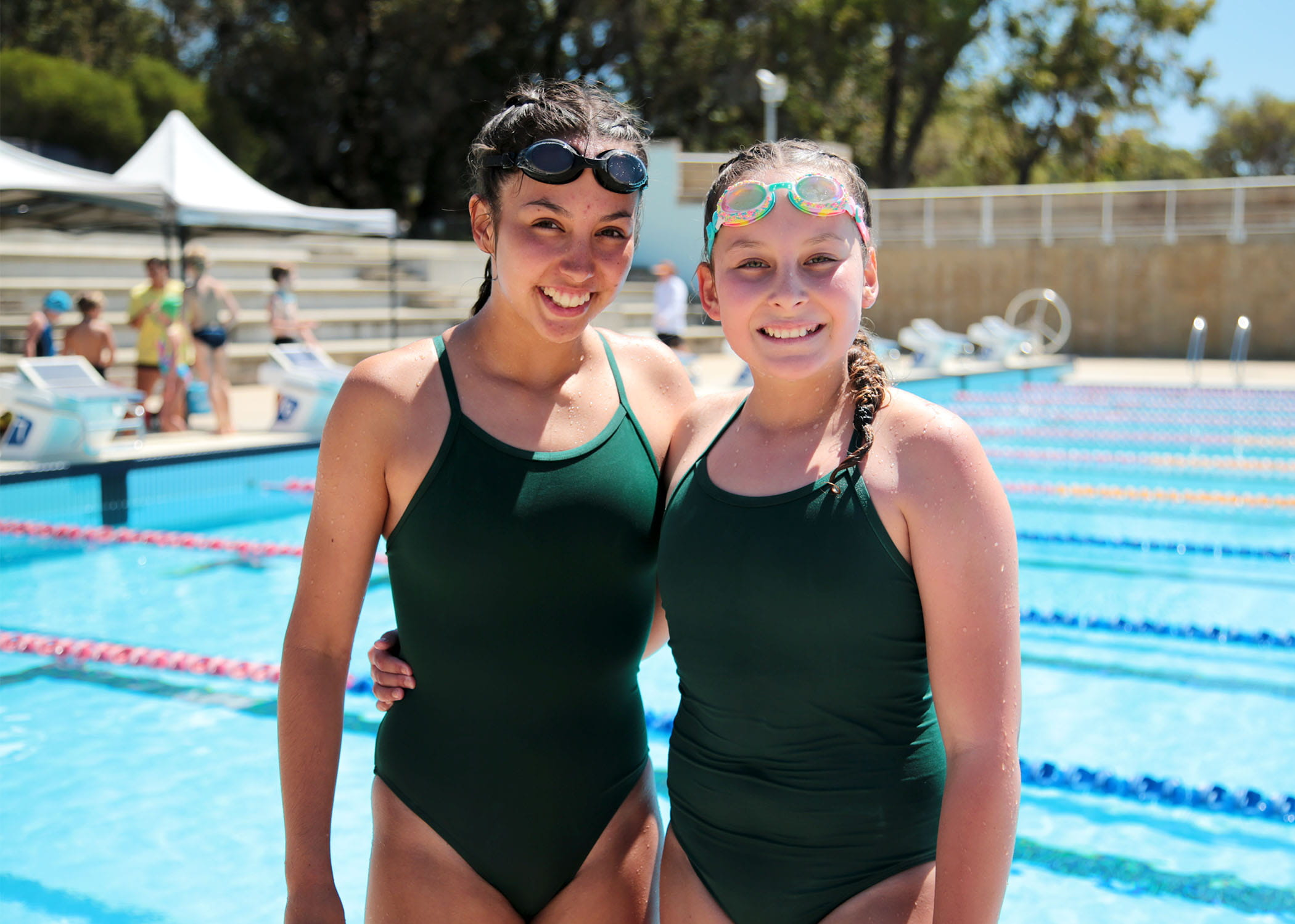 Two Junior Lifeguard Club Challenge participants