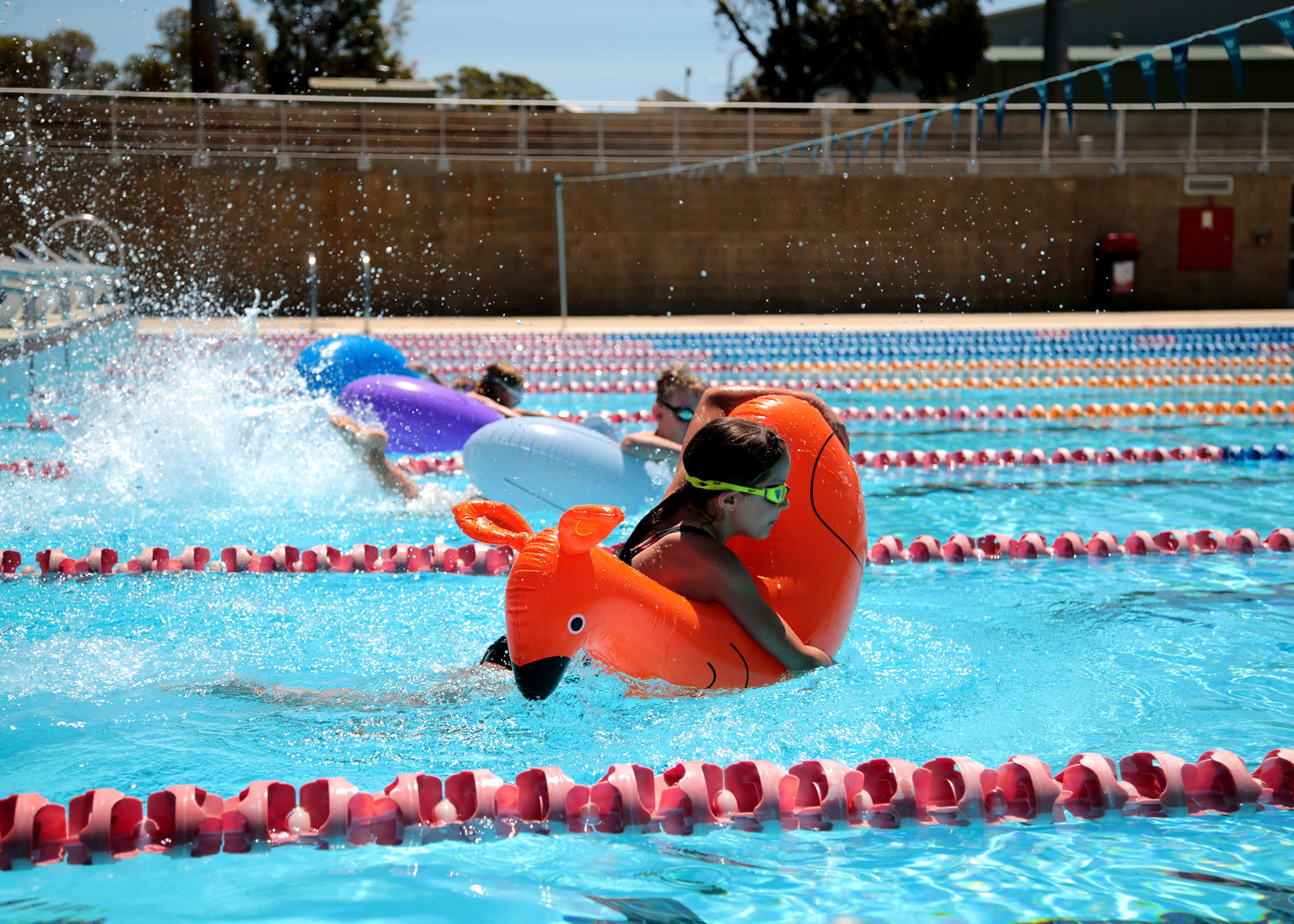 Junior Lifeguard Challenge inflatable race