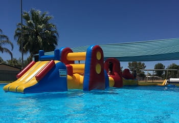 image of the pool at Laverton with the Watch Around Water inflatable