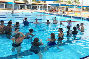 pool lifeguards in training at south hedland aquatic centre