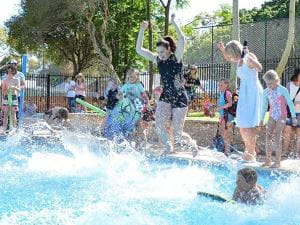 Children enjoying a swim at Subiaco Primary School Pool