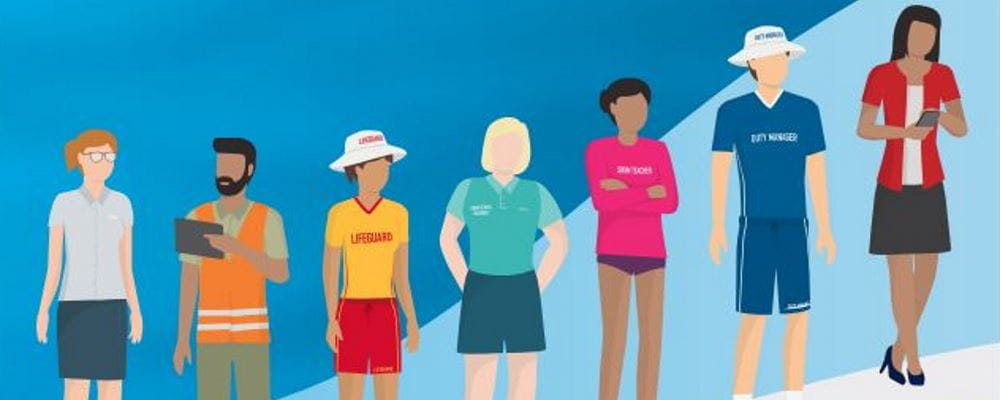 An animation of staff from the aquatic industry