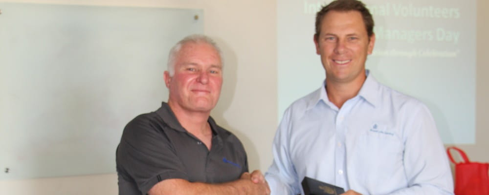 Mark Nelli with RLSSWA CEO Peter Leaversuch