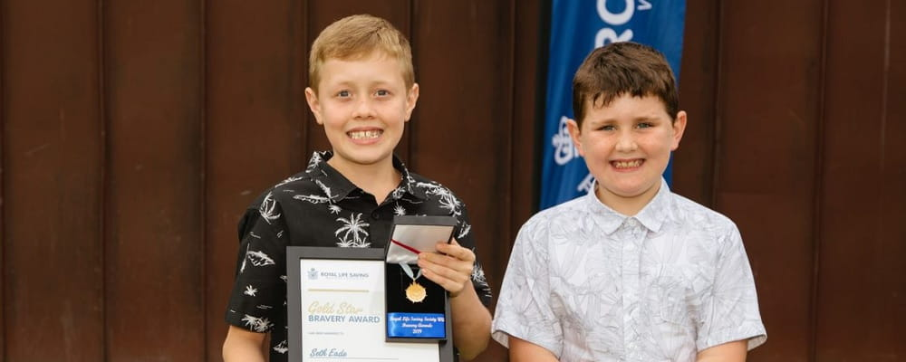 bravery award winner Seth Eade with his brother Kade