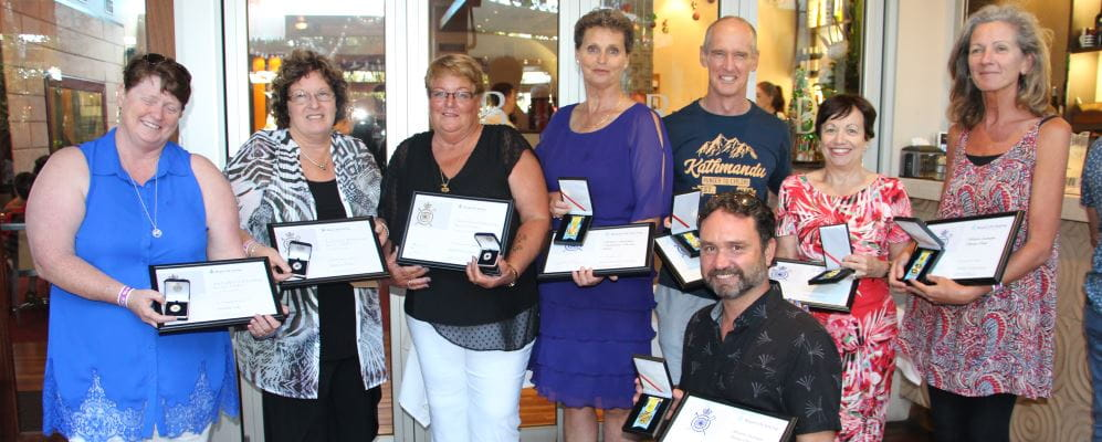 Winners of the training awards