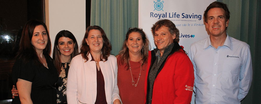 Royal Life Saving WA staff with two Community Trainers at event