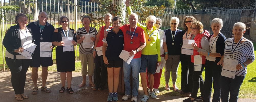 Grey Medallion participants with their certificates and medals