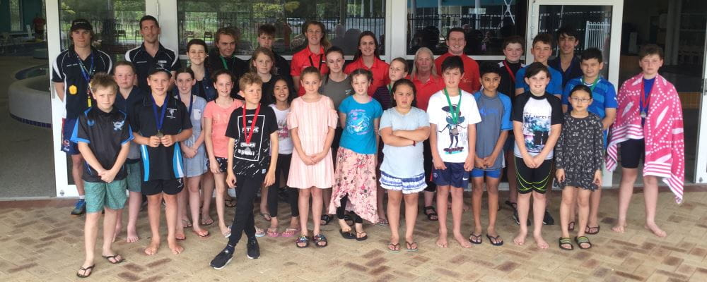 Children and instructors standing in front of Swan Active Beechboro during their JLC Carnival