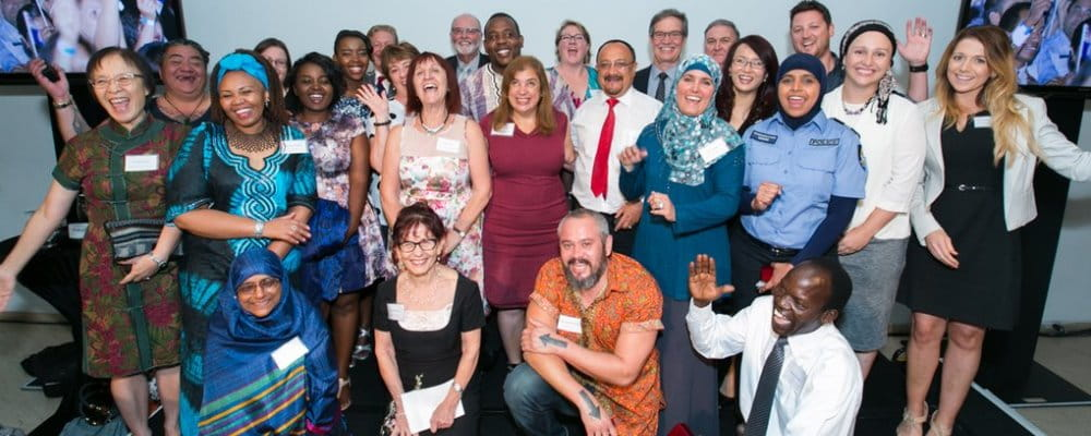 winners of the 2016 Multicultural Recognition Awards celebrating their success