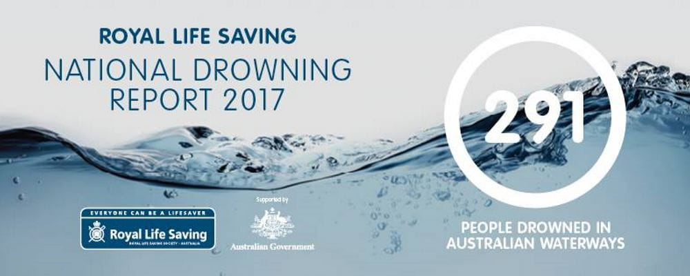 Image of water with National Drowning Report and statistics