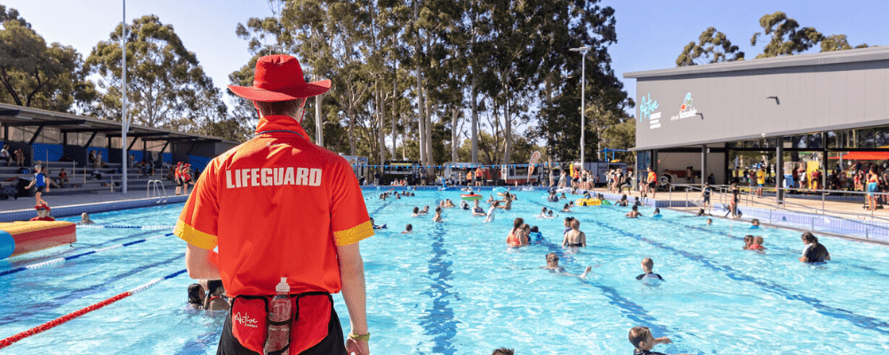 A lifeguard watching over the pool at Armadale Aquatic Centre