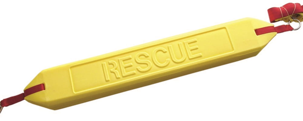 a yellow rescue tube as used by our lifeguards
