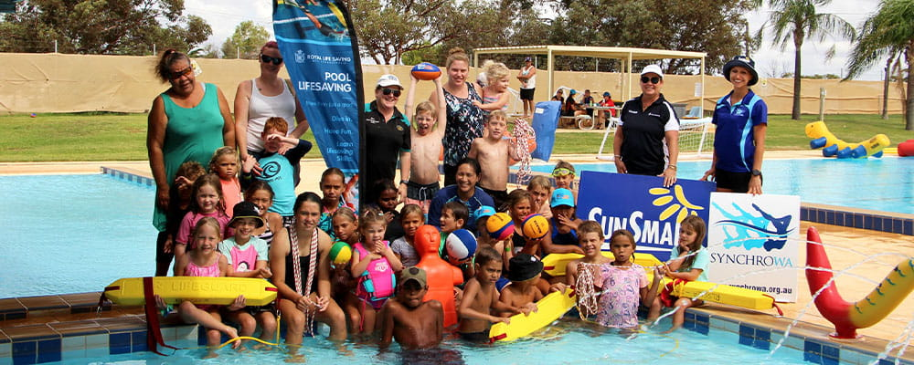 Group of local kids at Three Springs Aquatic Centre