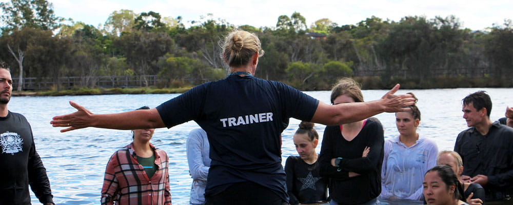Community trainer teaching a bronze medallion course