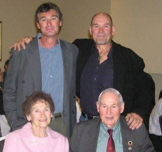 Joyce and Ray Martin with their sons Ray Junior and John