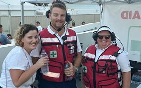 First Aid officers at an event