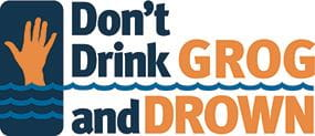 Don't drink grog and drown logo image