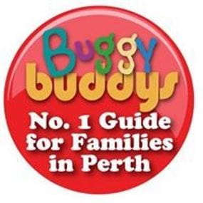 Buggybuddies logo stating 'Number 1 guide for families in Perth'