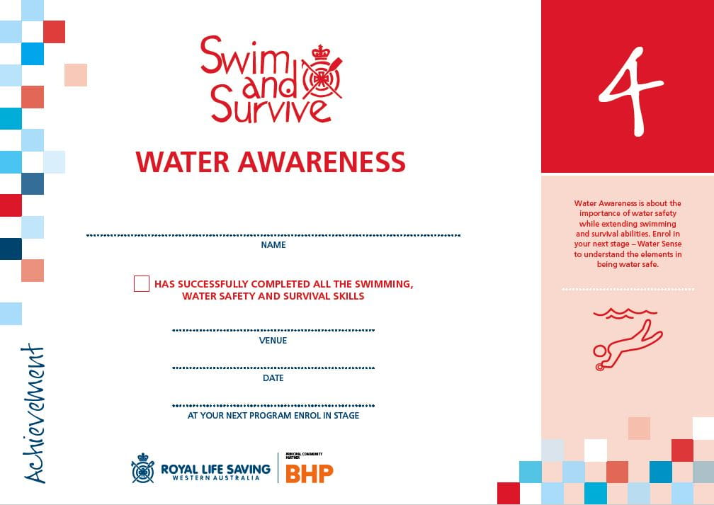 Stage 4 Water Awareness Certificate