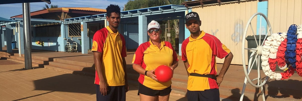 three pool lifeguards from the north west including two Aboriginal lifeguards