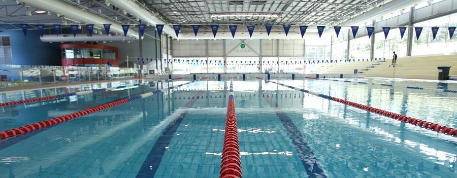 photo of a pool at an aquatic facility outside of operating hours