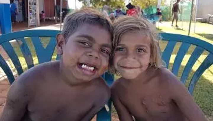 two young Aboriginal boys from Burringurrah