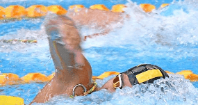 close up of freestyle swimmer